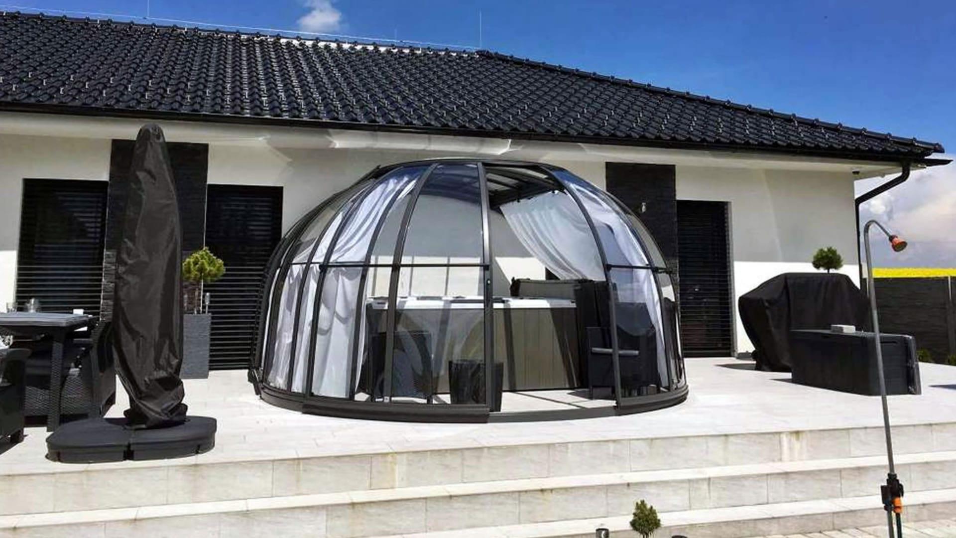 Whirlpool Überdachung Oasis - nicht auf Whirl-Komfort verzichten?